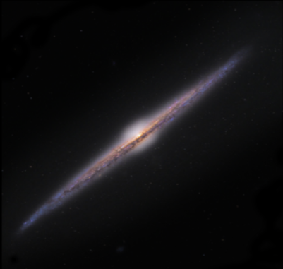 Die Edge-On-Galaxie NGC4565 Quelle: Universe2go